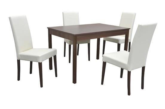 Stôl BERGAMO PEVNÝ 1ks + Stolička D207 4ks