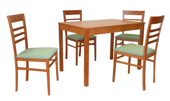 Stôl JUMBO PEVNÝ 1ks + Stolička TATA 4ks
