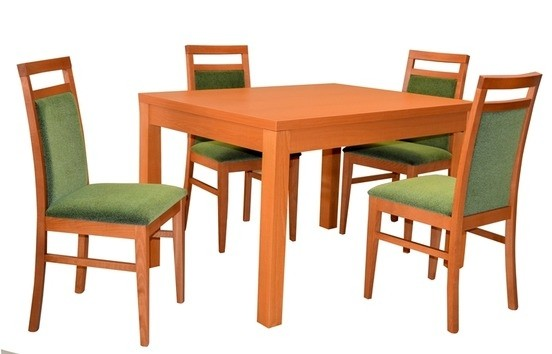 Stôl KETTY ROZŤAHOVACÍ 1ks + Stolička ELTON 4ks