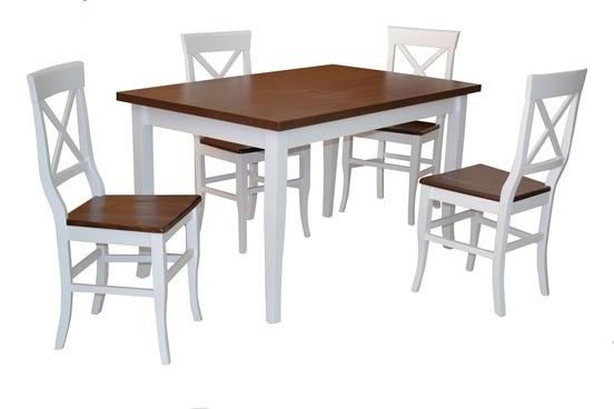 Stôl MILANO PEVNÝ 1ks + Stolička RIO/L 4ks
