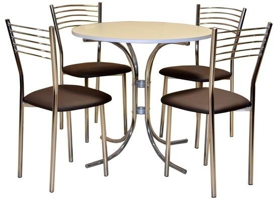 Stôl SONIA PEVNÝ 1ks + Stolička DANIEL 4ks