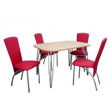 Stôl ARCO PEVNÝ 1ks + Stolička 900/VENUS 4ks