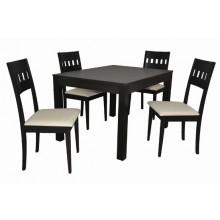 Stôl KETTY ROZŤAHOVACÍ 1ks + Stolička SISA 4ks